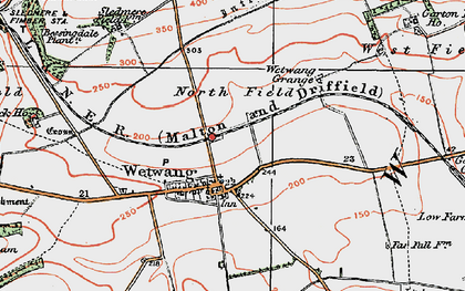 Old map of Wetwang Grange in 1924