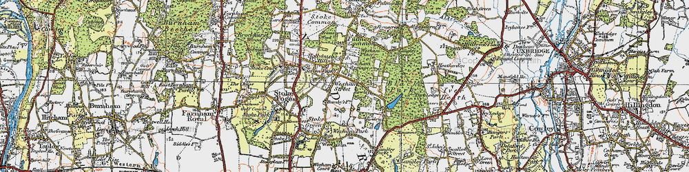 Old map of Wexham Street in 1920