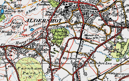 Old map of Weybourne in 1919