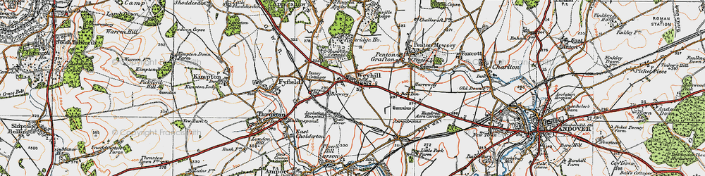 Old map of Weyhill in 1919