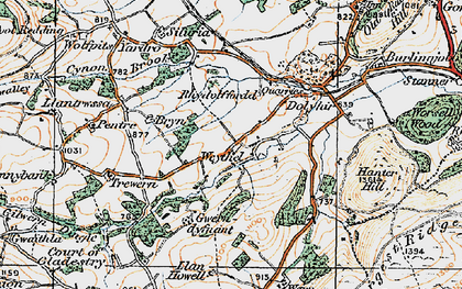 Old map of Weythel in 1920