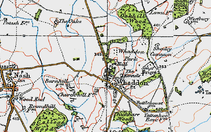 Old map of Whaddon Chase in 1919