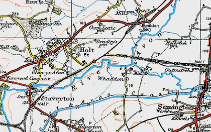 Old map of Whaddon in 1919