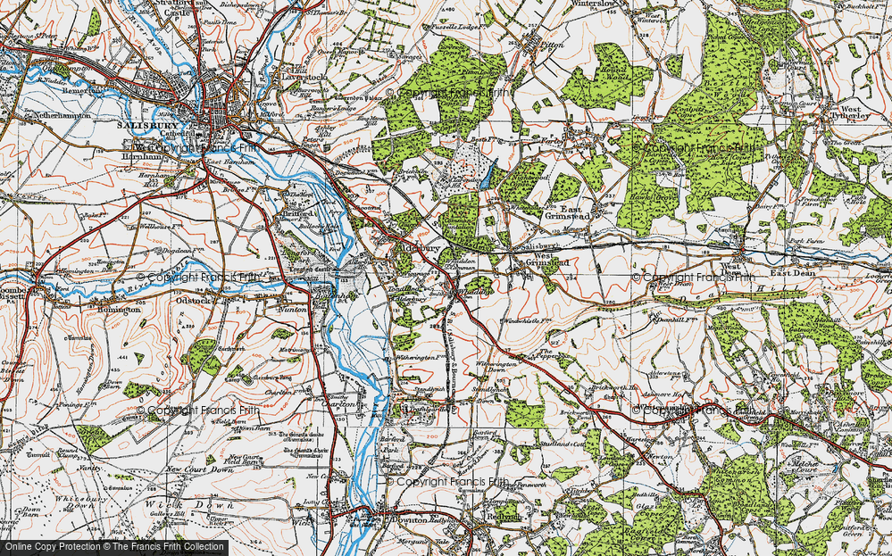 Old Map of Whaddon, 1919 in 1919