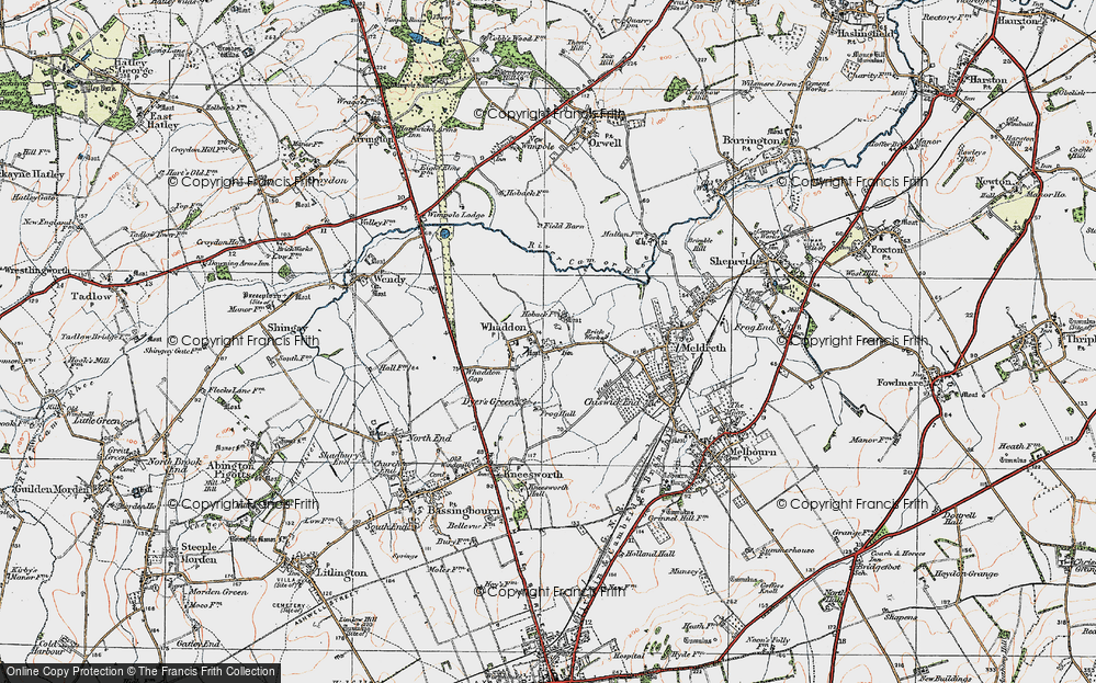 Old Map of Whaddon, 1920 in 1920