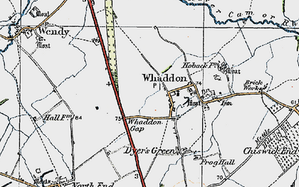 Old map of Whaddon Gap in 1920