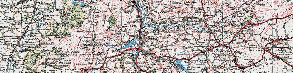 Old map of Whaley Bridge in 1923