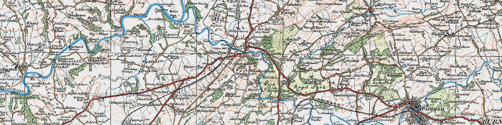 Old map of Whalley Banks in 1924