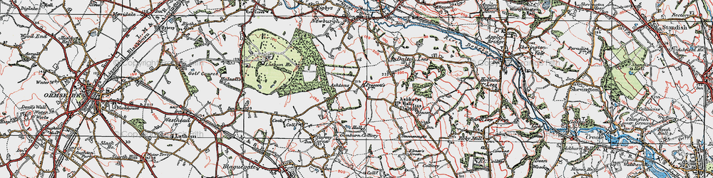 Old map of Whalleys in 1923