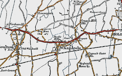 Old map of Whaplode in 1922