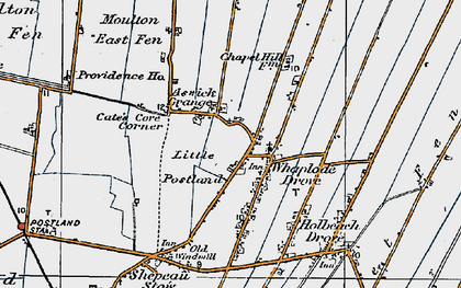 Old map of Whaplode Drove in 1922