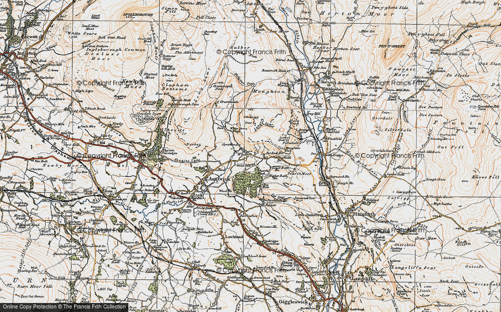 Old Map of Historic Map covering Wood End in 1924