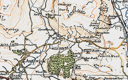 Old map of Wharfe in 1924