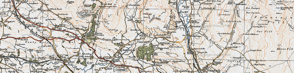 Old map of Wharfe Wood in 1924