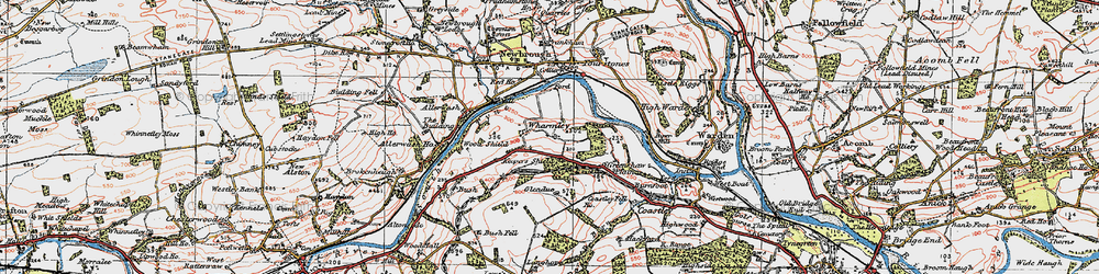 Old map of Wharmley in 1925