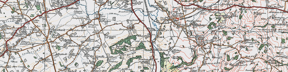 Old map of Wharton in 1920