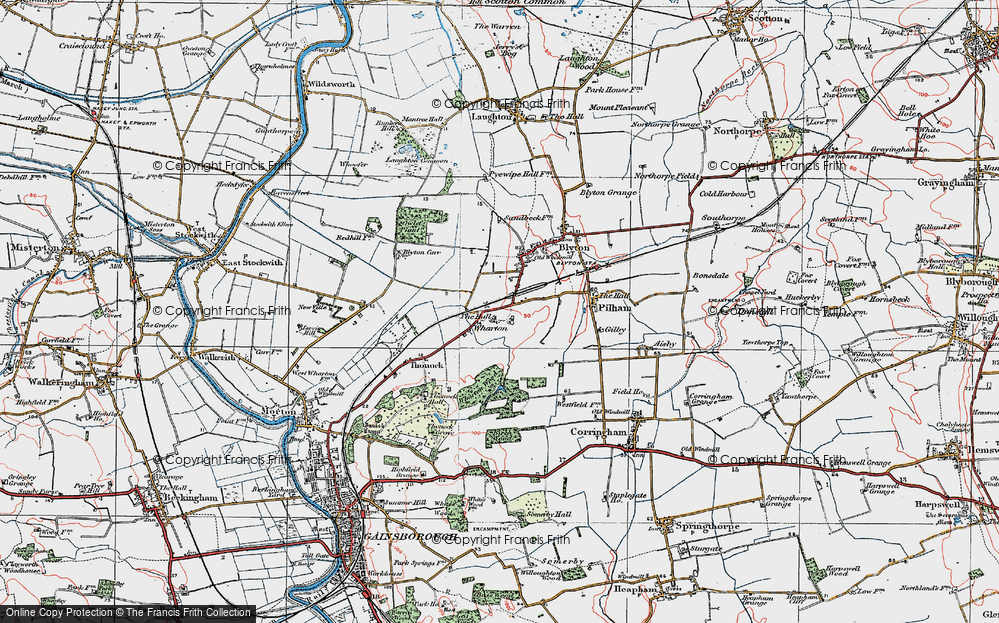 Old Map of Wharton, 1923 in 1923