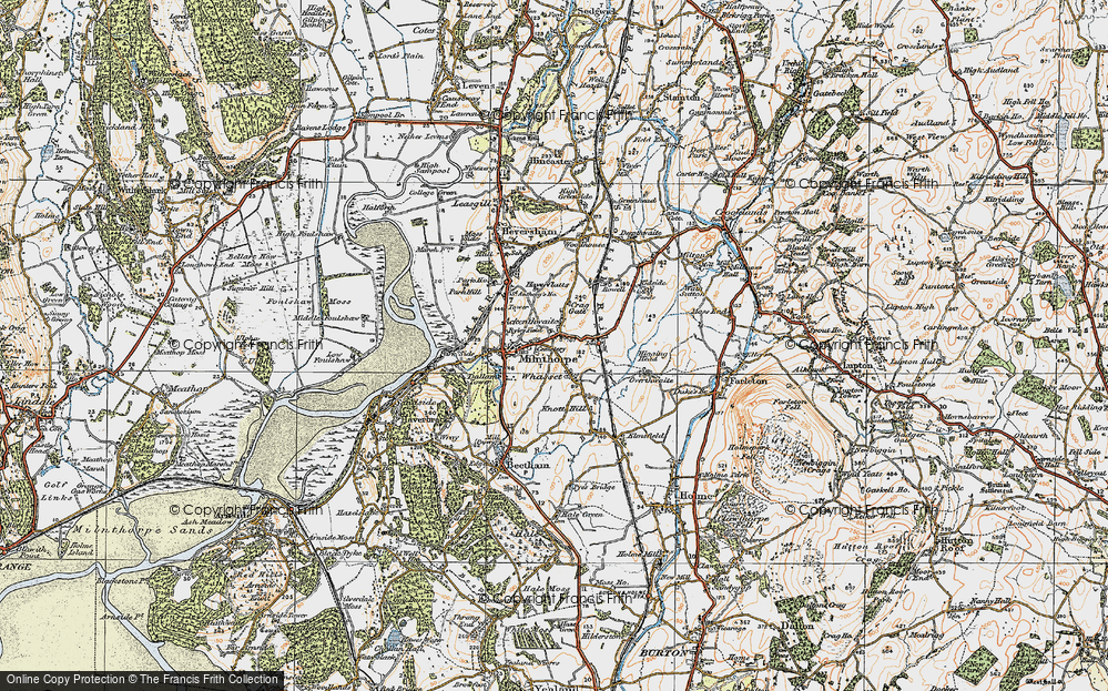 Old Map of Whasset, 1925 in 1925