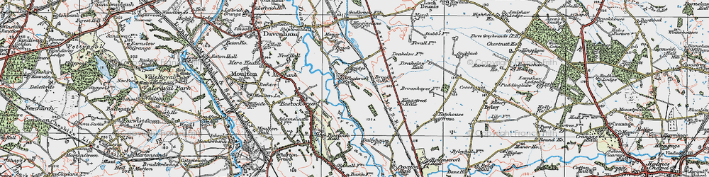 Old map of Whatcroft in 1923