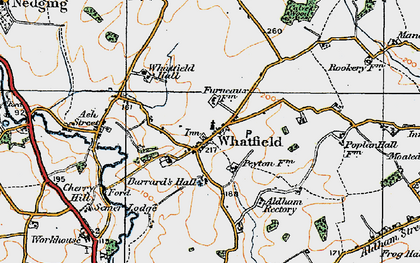 Old map of Whatfield in 1921