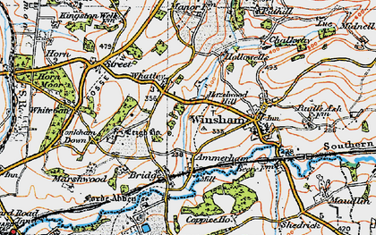 Old map of Whatley in 1919