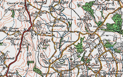 Old map of Whatmore in 1920
