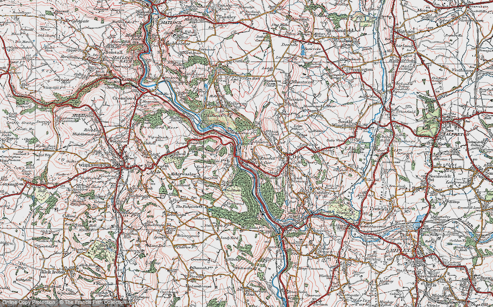 Old Map of Whatstandwell, 1923 in 1923