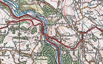 Old map of Whatstandwell in 1923