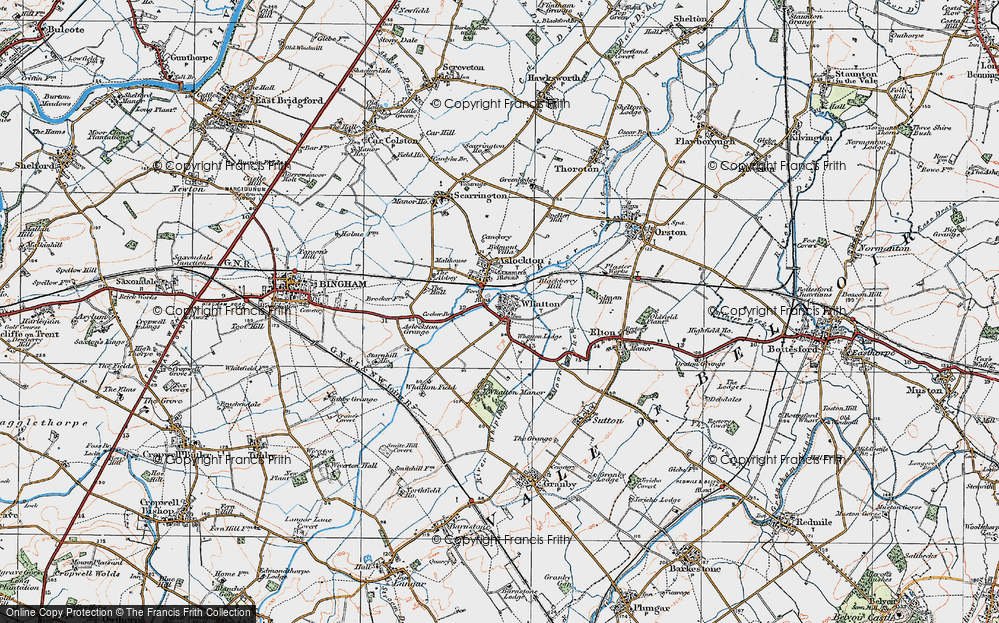 Old Map of Whatton-in-the-Vale, 1921 in 1921