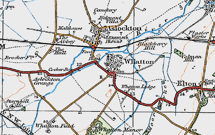 Old map of Whatton-in-the-Vale in 1921