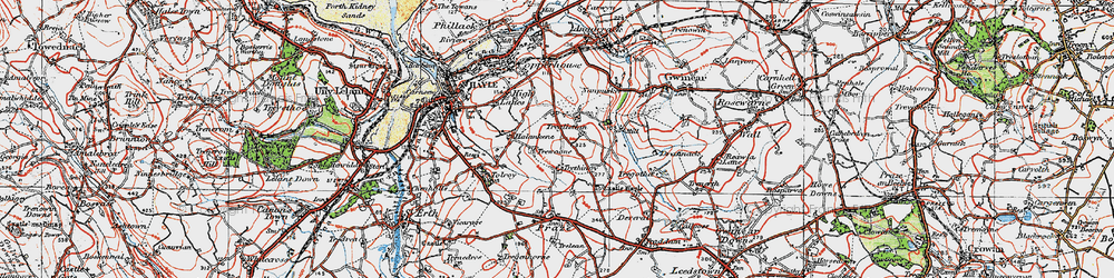 Old map of Wheal Alfred in 1919