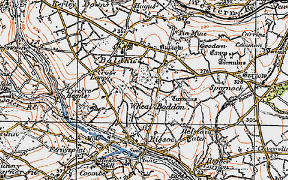 Old map of Wheal Baddon in 1919