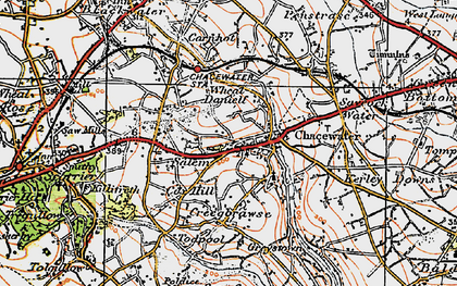 Old map of Wheal Busy in 1919