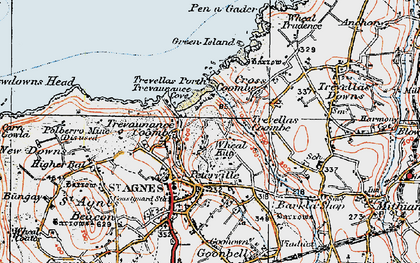 Old map of Wheal Kitty in 1919
