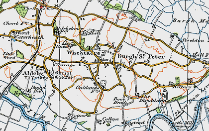 Old map of Wheatacre in 1921