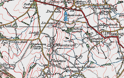 Old map of Wheatcroft in 1923