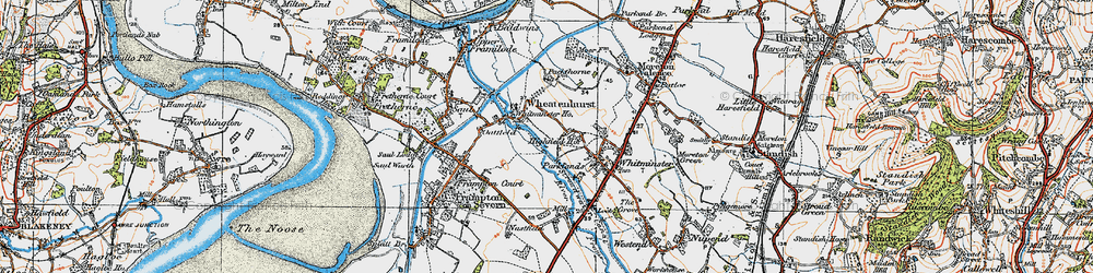 Old map of Whitminster Ho in 1919