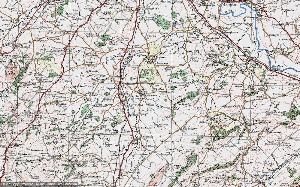 Old Map of Wheathall, 1921 in 1921