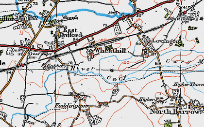 Old map of Wheathill in 1919