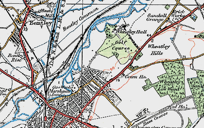Old map of Wheatley in 1923