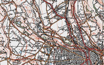 Old map of Wheatley in 1925