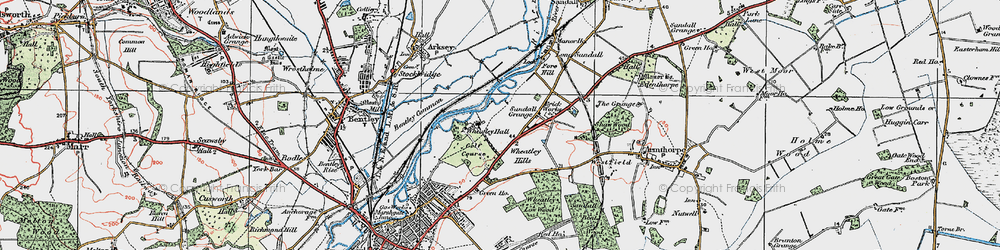 Old map of Wheatley Park in 1923