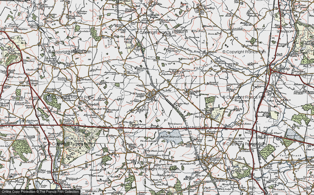 Old Map of Historic Map covering Lights, The in 1921