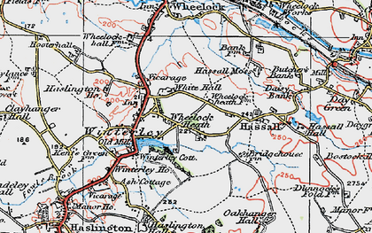 Old map of Wheelock Heath in 1923