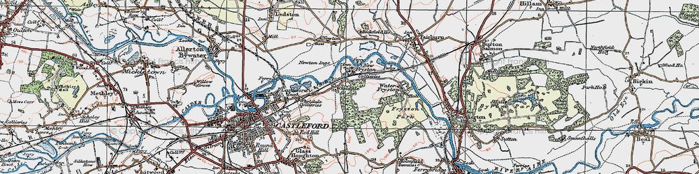 Old map of Wheldale in 1925