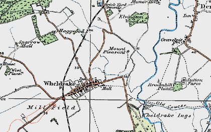 Old map of Wheldrake Grange in 1924