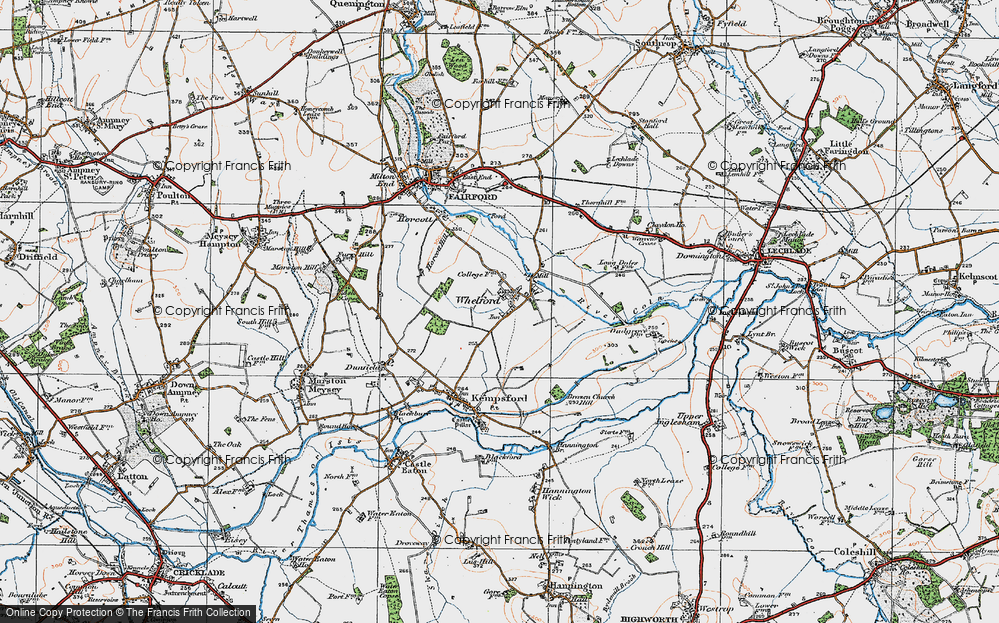 Old Map of Whelford, 1919 in 1919