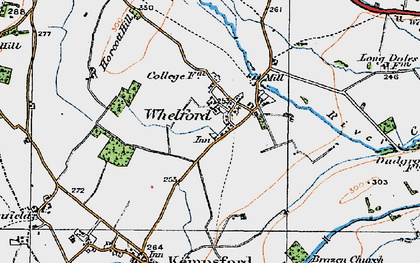 Old map of Whelford in 1919