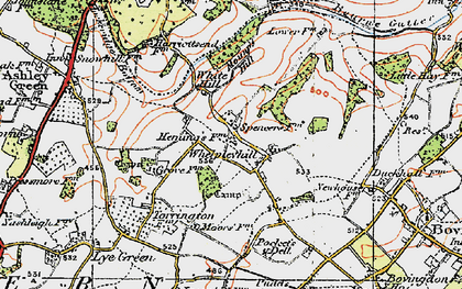Old map of White Hill in 1920