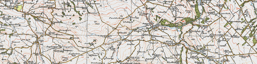 Old map of Whelpo in 1925